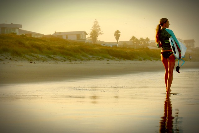 beach girl_surfer By Evgeniya Hook